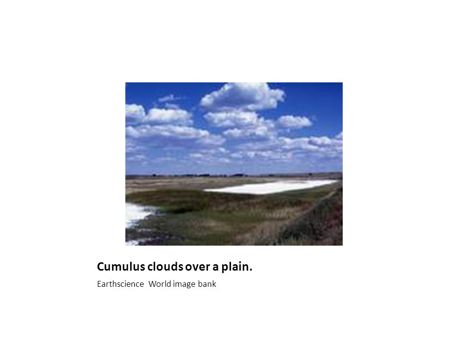 Cumulus clouds over a plain. Earthscience World image bank