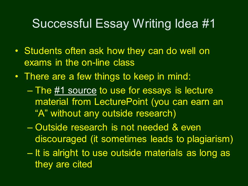 Success On Exams  Avoiding Plagiarism Successful Essay Writing   Successful Essay Writing