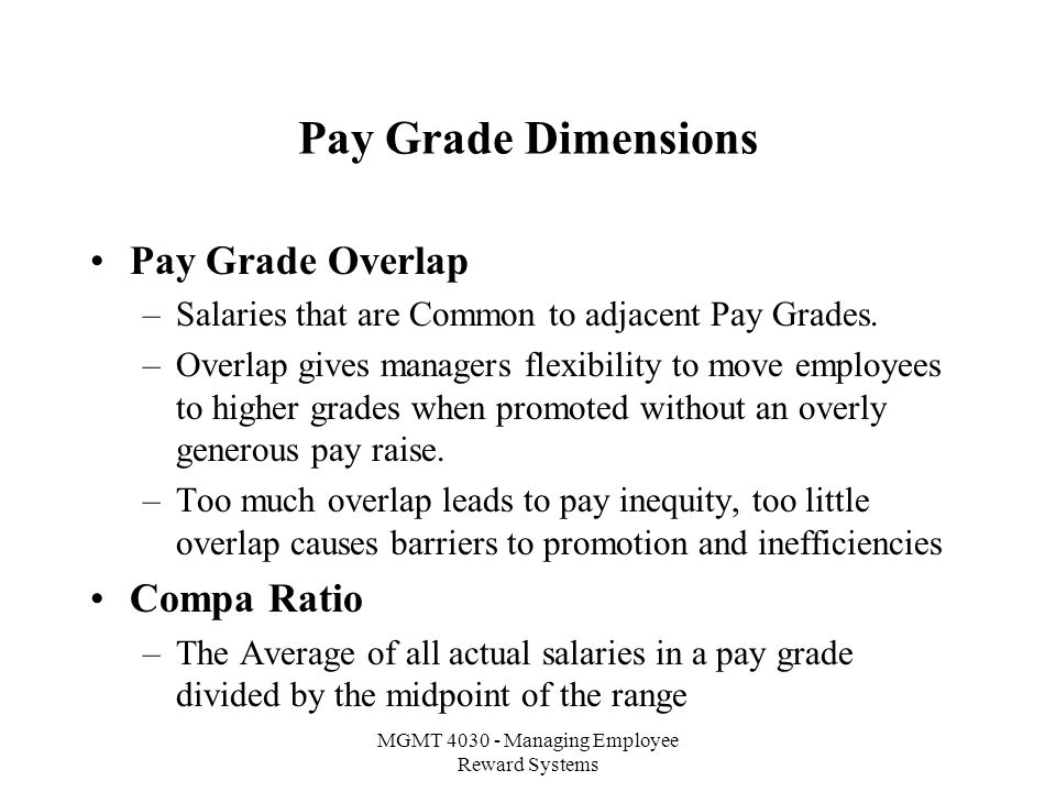 MGMT Managing Employee Reward Systems Salary Structures and
