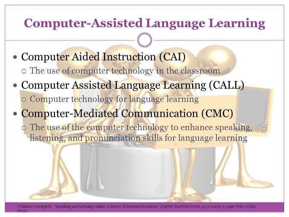 Computer assisted instruction esl.