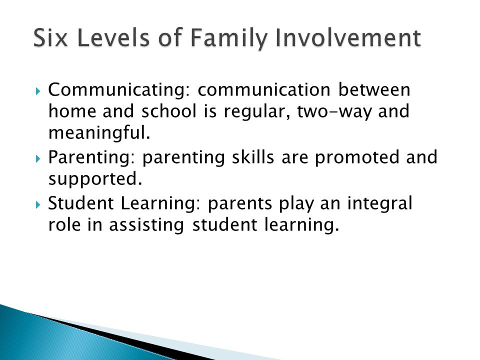  Communicating: communication between home and school is regular, two-way and meaningful.