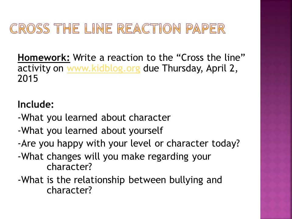 reaction paper about bullying
