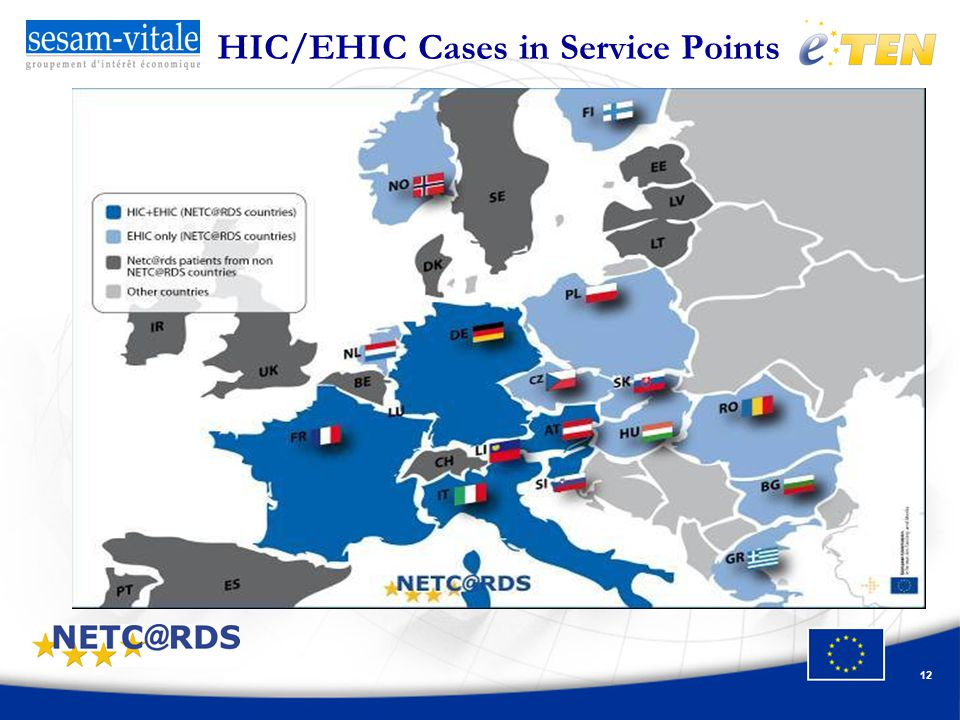 12 HIC/EHIC Cases in Service Points