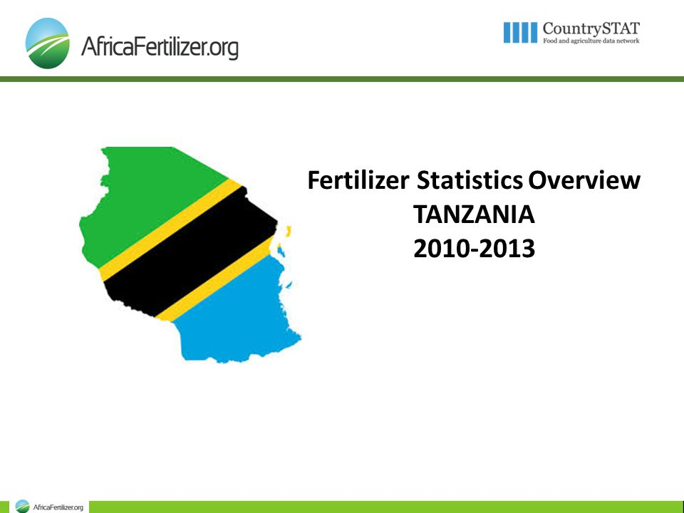 Fertilizer Statistics Overview TANZANIA ppt download