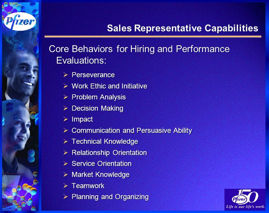 5 sales representative capabilities