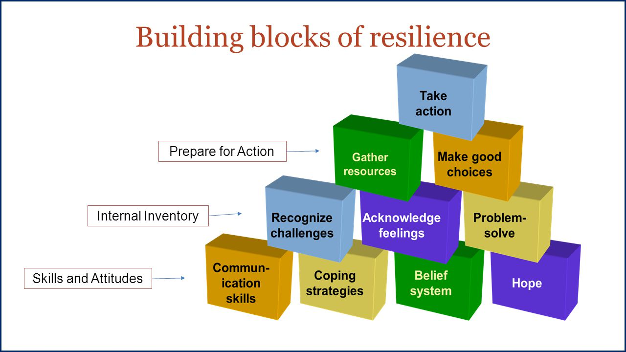 Building blocks of resilience Skills and Attitudes Internal Inventory Prepare for Action