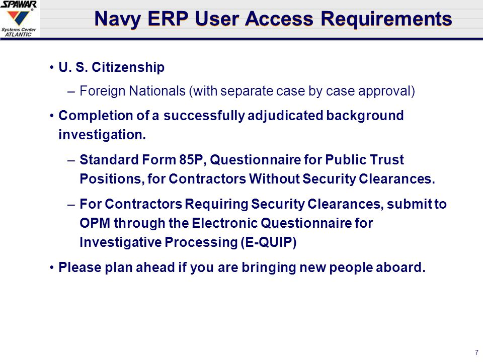Network Centric Enterprise Public Trust Information and Navy