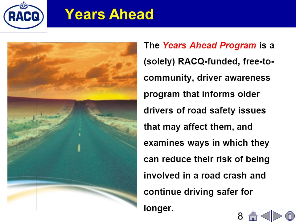 7 Crash Risk Serious Injury Crash Risk by Driver Age, Source: MUARC submission, 2003.