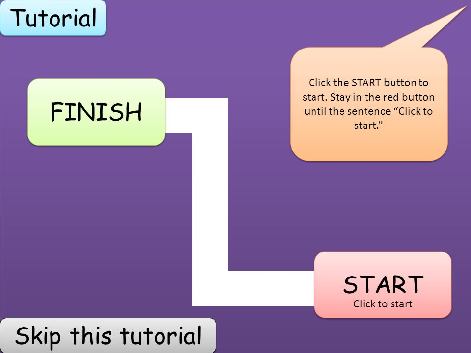 Start Exit Start Finish Tutorial Click To Start Click The Start