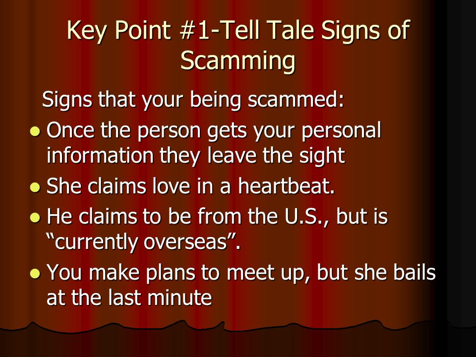 Different online dating scams