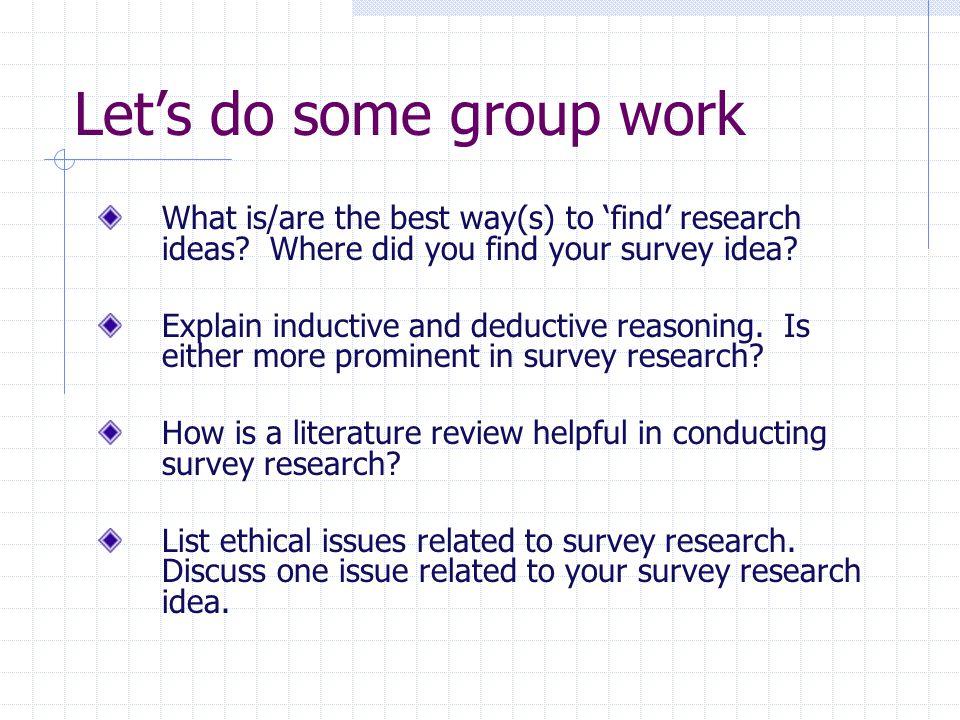 survey research ideas