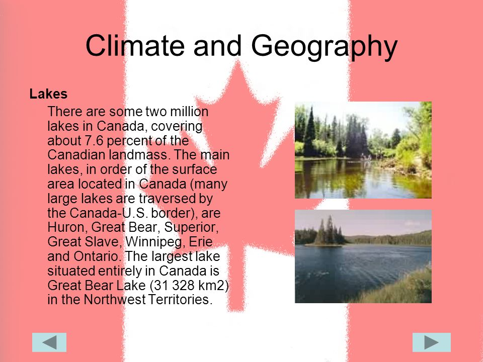 Climate and Geography Mountain Ranges Canada s terrain incorporates a number of mountain ranges: the Torngats, Appalachians and Laurentians in the east; the Rocky, Coastal and Mackenzie ranges in the west; and Mount St.