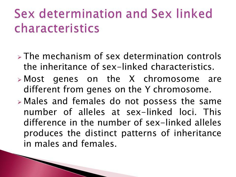 The mechanism of sex