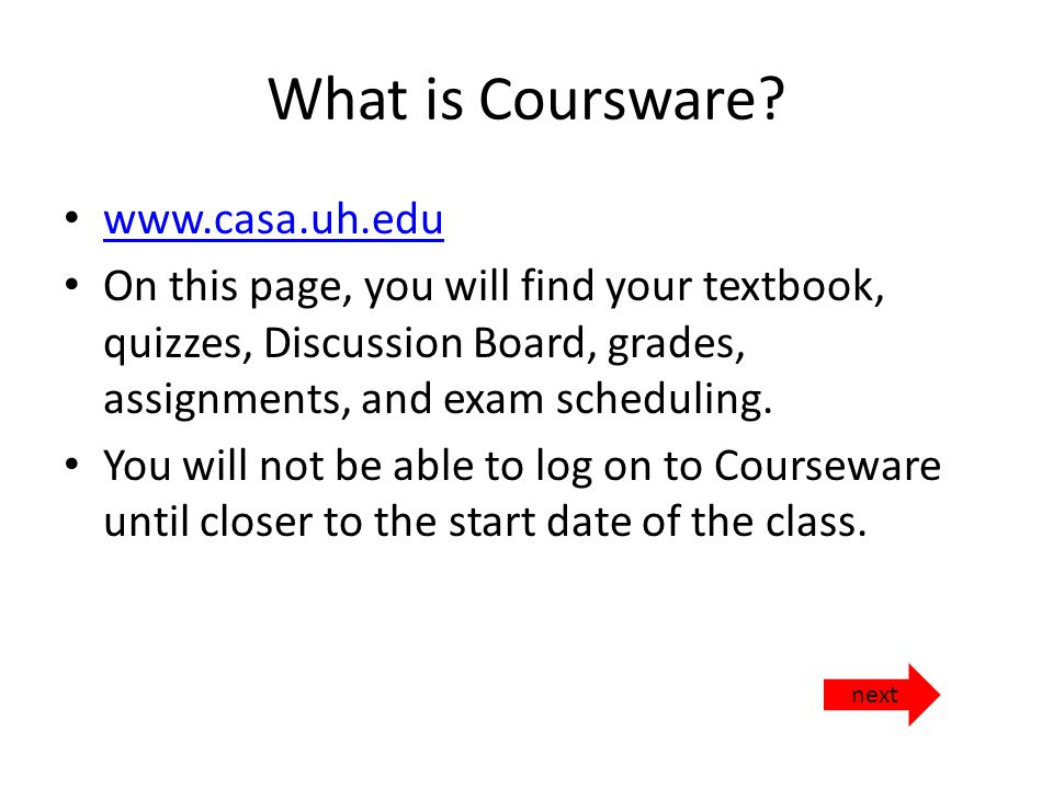 What is Coursware.