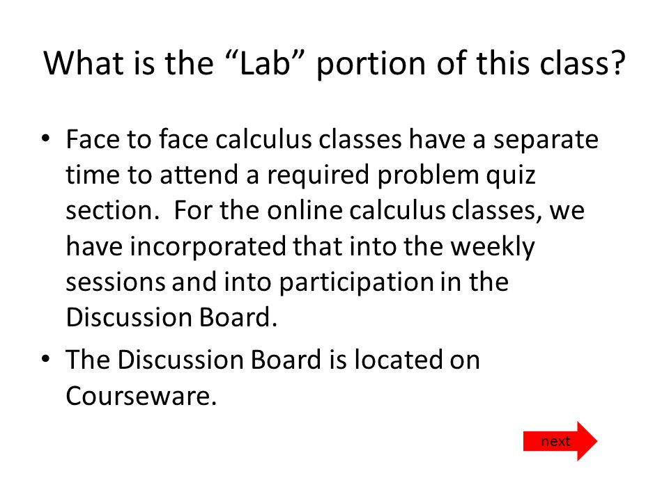 What is the Lab portion of this class.