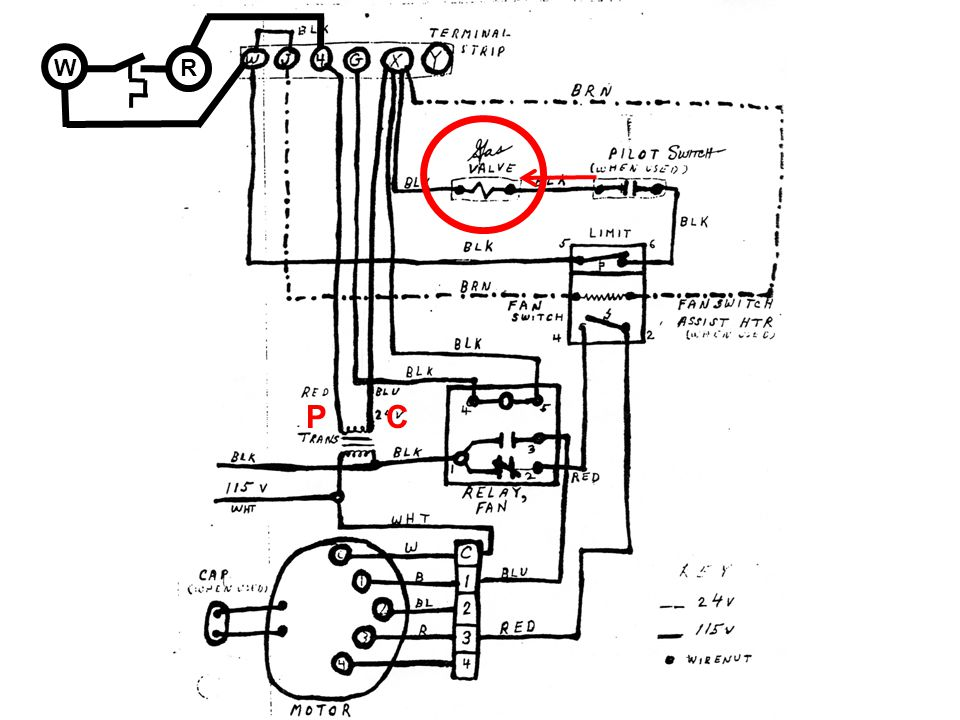 Transformer Wiring Diagram For Rheem Gas Furnace