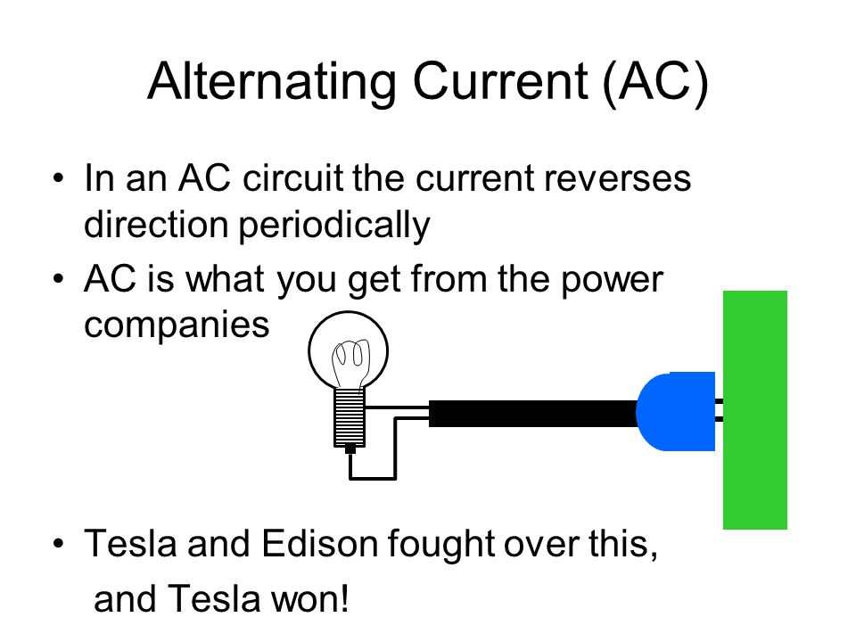 L 27 Electricity And Magism 4 Alternating Current Ac Vs. 3 Alternating Current Ac In An Circuit The Reverses Direction Periodically Is What You Get From Power Panies Tesla And Edison Fought. Wiring. Edison L Wiring Diagram At Scoala.co