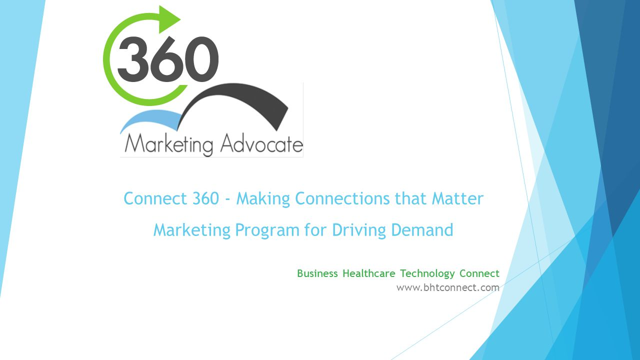 Connect Making Connections that Matter Marketing Program for Driving Demand Business Healthcare Technology Connect