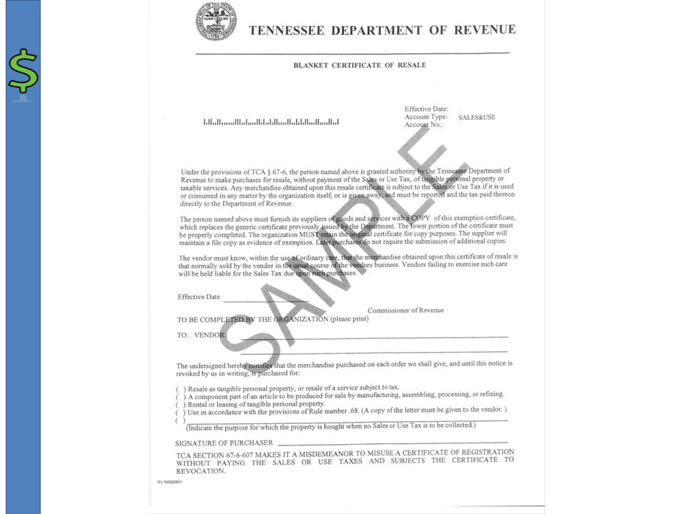 Tennessee Sales Tax Regulations On The Sale Of Farm Products A