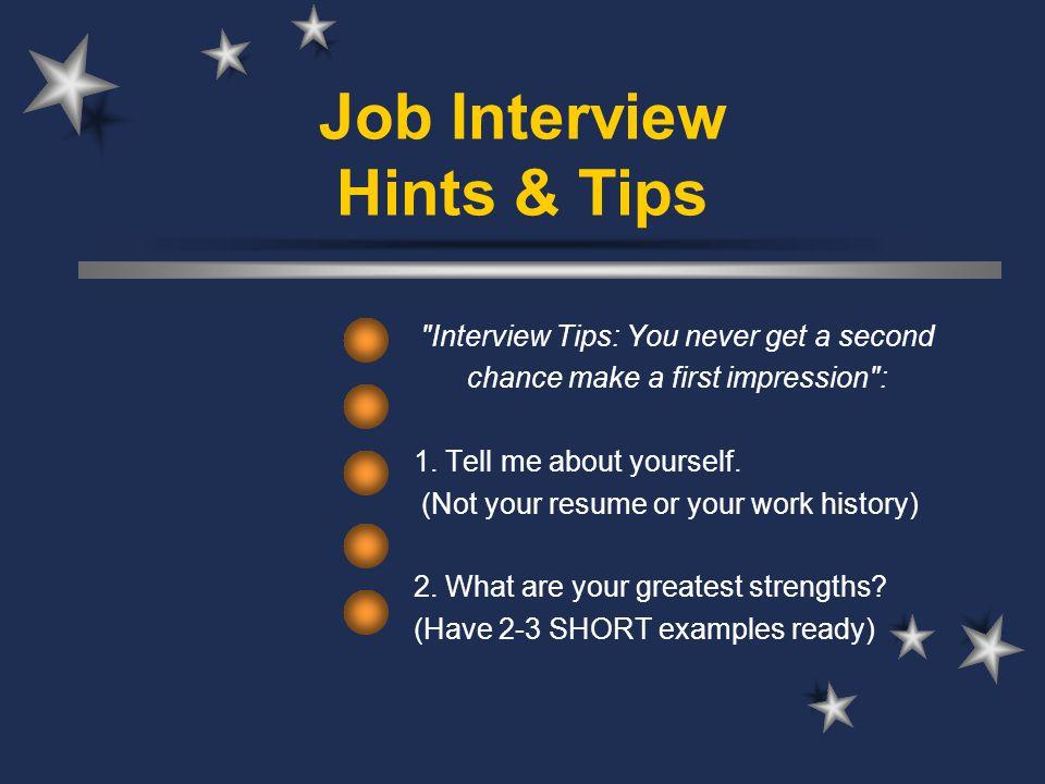 1 job interview hints tips