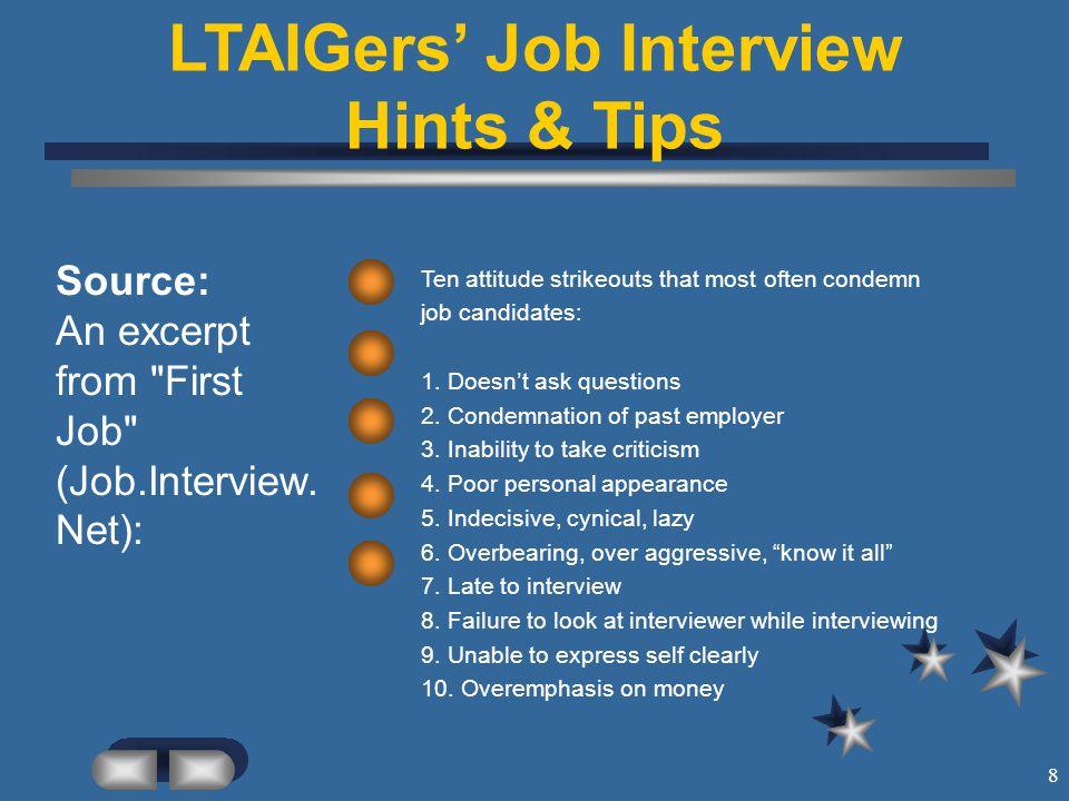 Job Interview Hints & Tips \