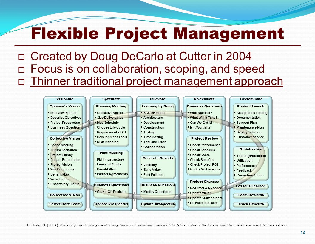 Flexible Project Management DeCarlo, D. (2004).