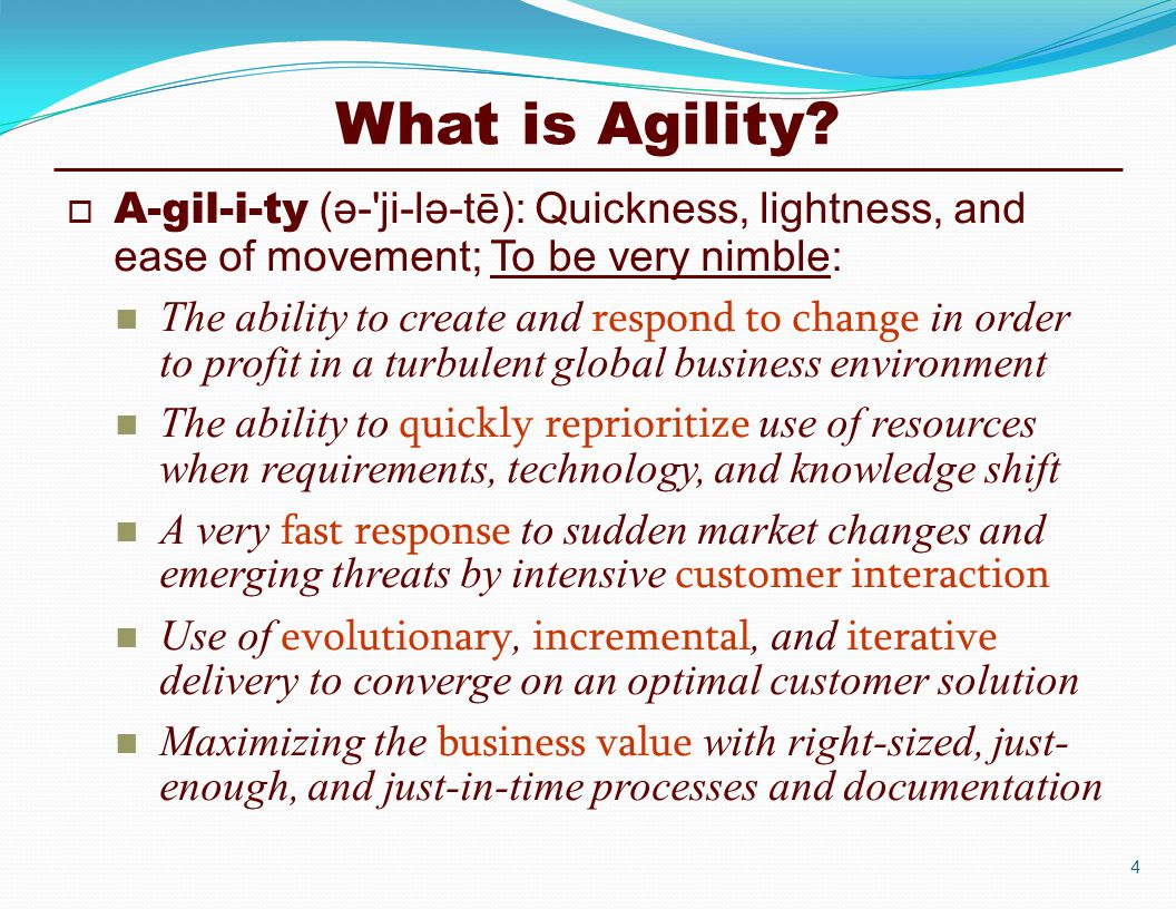 What is Agility.