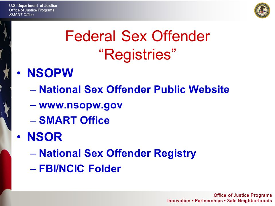 Doj national sex offender public registry