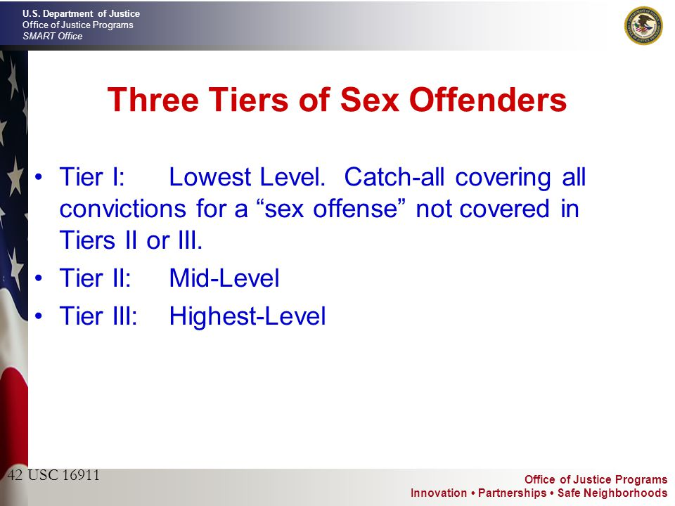 What are the different tiers of sex offenders