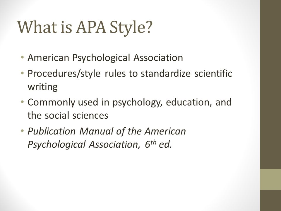 What is APA Style.