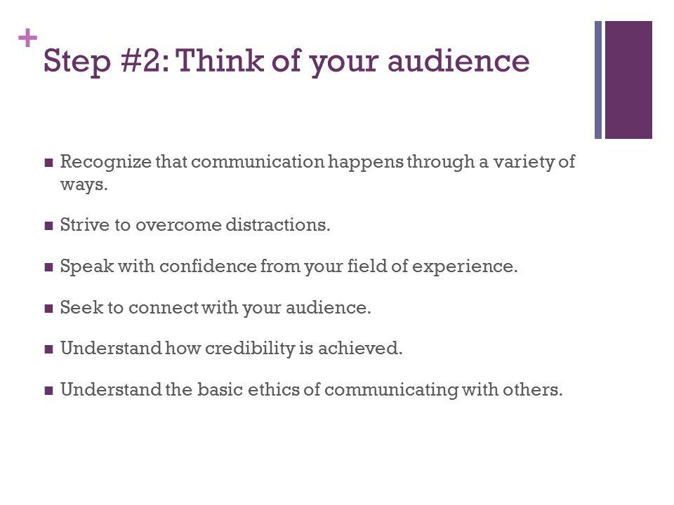 4 steps for preparing a speech