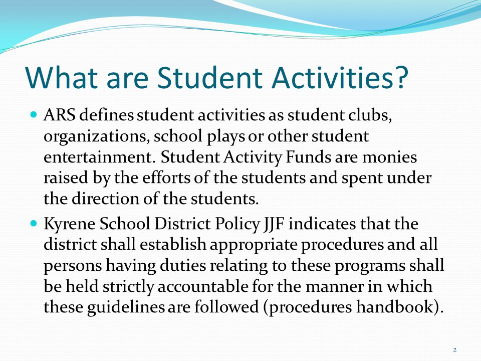 What are Student Activities.
