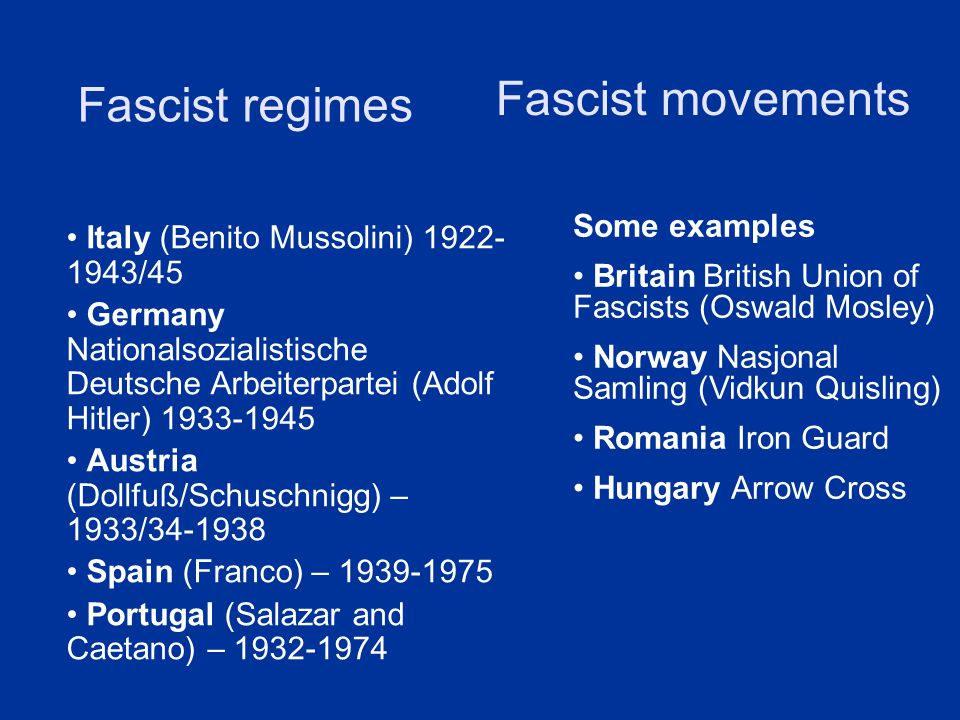 Making Of The Modern World Lecture Fascism Between Nationalism And
