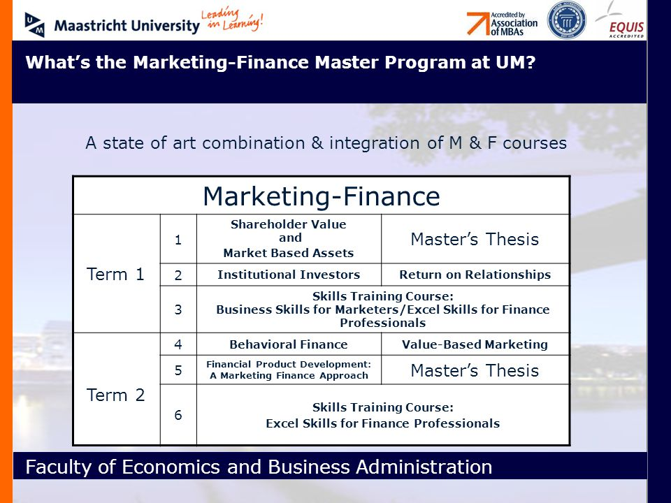 Welcome To Maastricht University Faculty Of Economics And Business