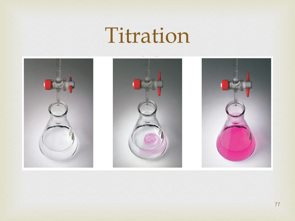  77 Titration