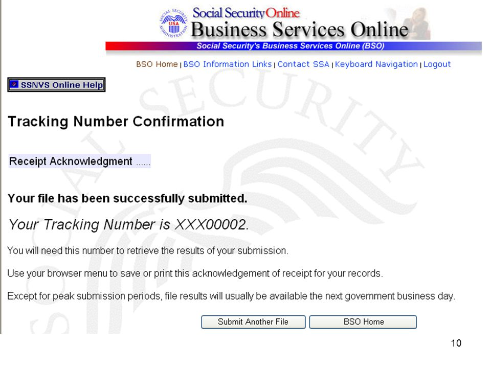 1 The Social Security Number Verification Service Ssnvs