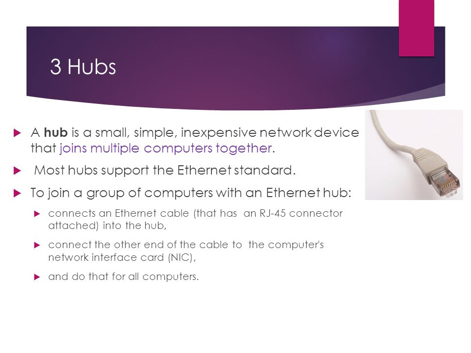 Network Hardware for Expanding Network  Expanding Networks
