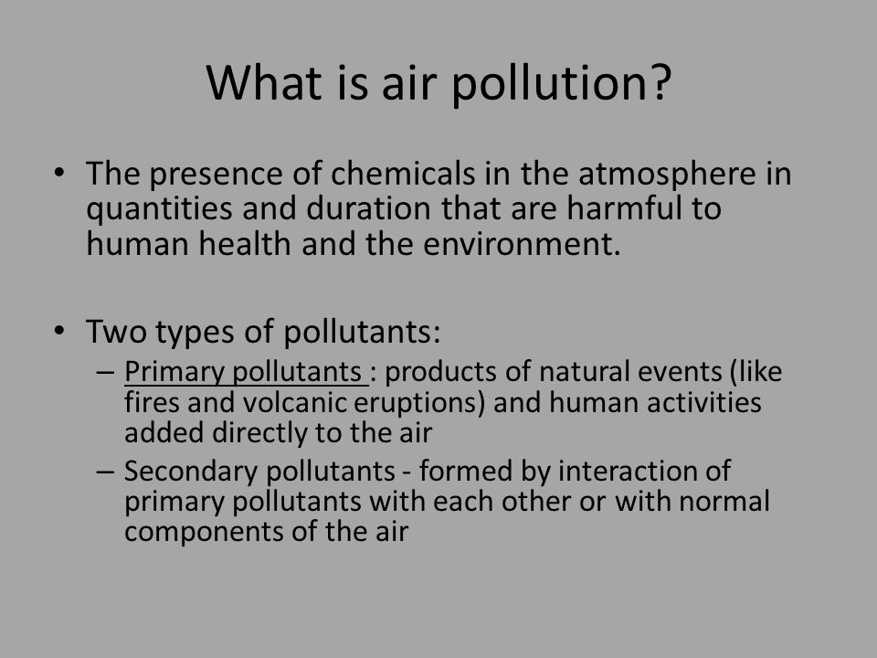 What is air pollution.