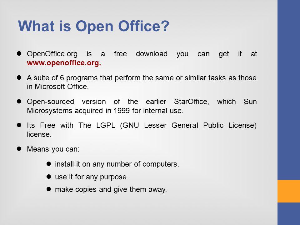 Open Office Writer Computer Training Programme Speaker