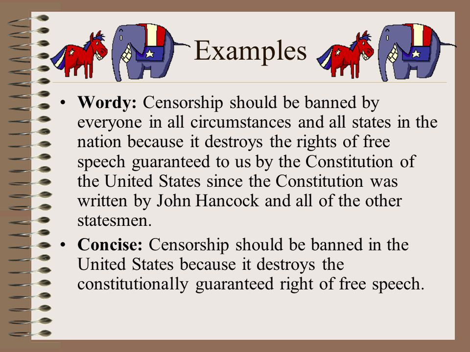 freedom of speech thesis statement