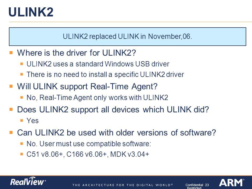 ulink2 driver installation