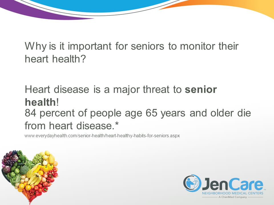 Why is it important for seniors to monitor their heart health.