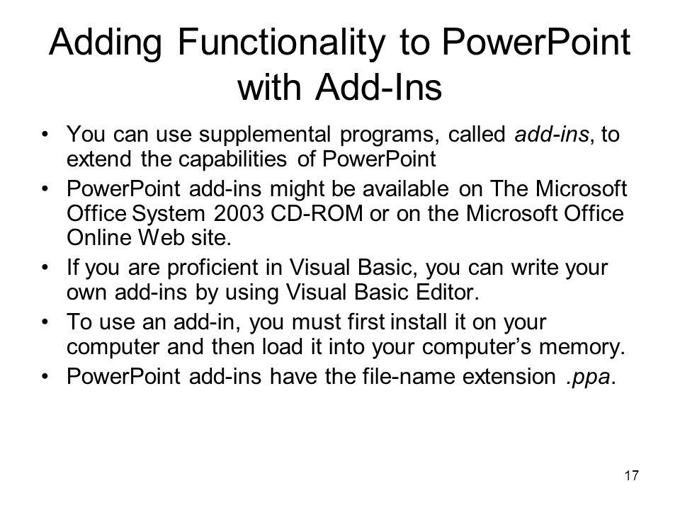 1 CA203 Presentation Application Customizing PowerPoint