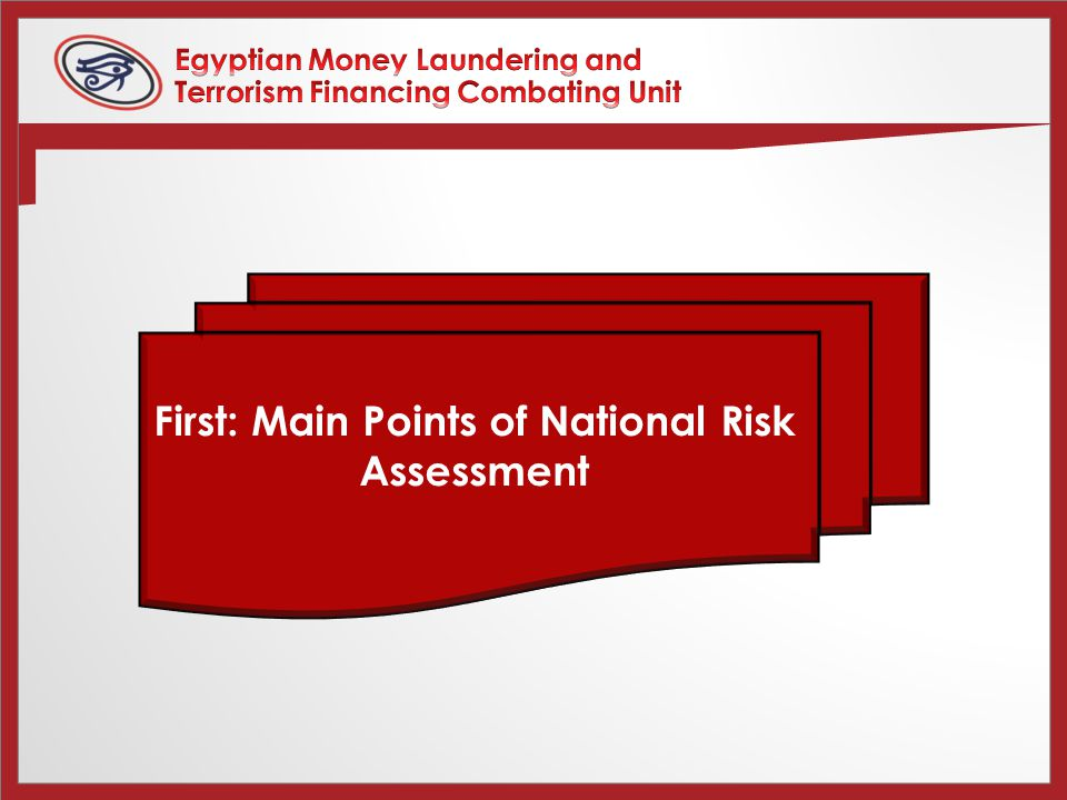 First: Main Points of National Risk Assessment