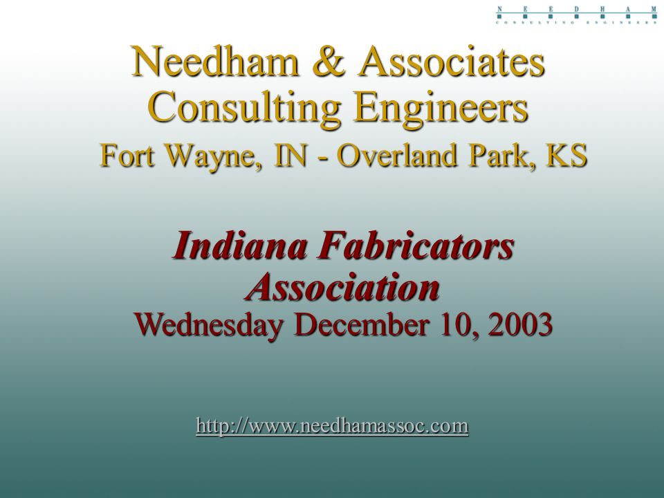 Needham associates consulting engineers fort wayne in overland 1 needham associates consulting engineers fort wayne in overland park ks indiana fabricators association wednesday december 10 malvernweather Images