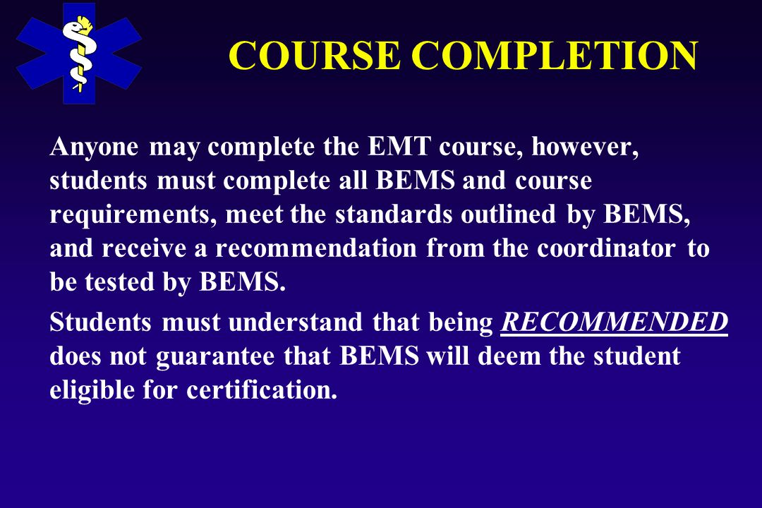 Introduction to the emergency medical technician basic course 27 course completion yelopaper Images