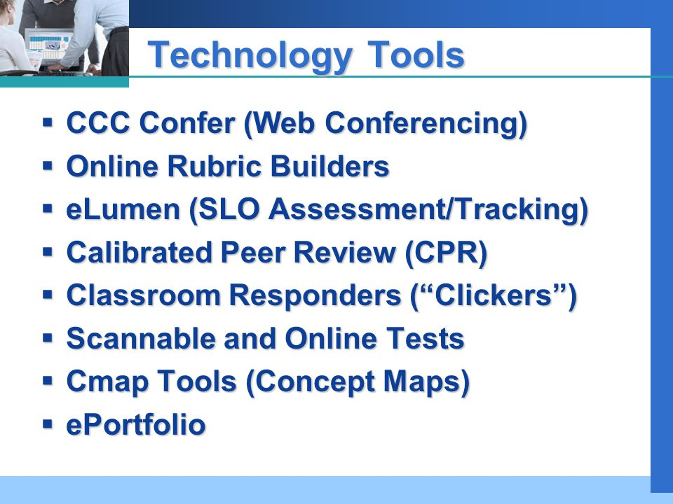 Technology Tools for Facilitating Learning Outcomes Assessment Jerry ...