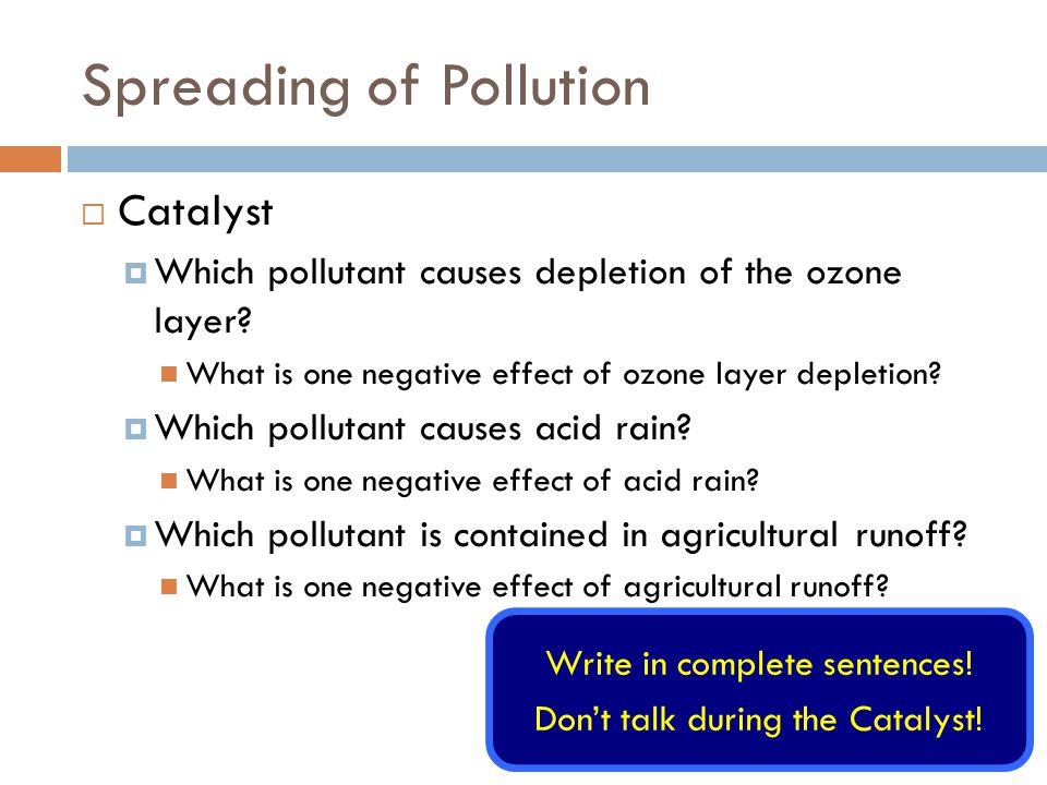 negative effects of ozone depletion