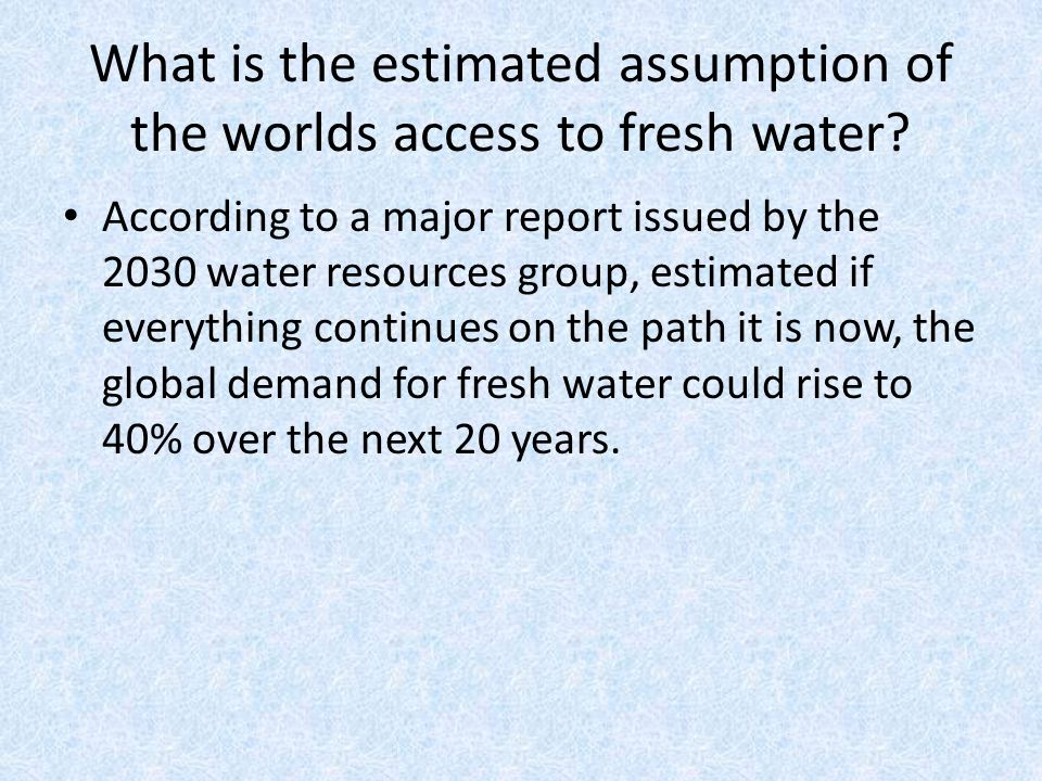 annual editions article 43 the world s water challenge brittany