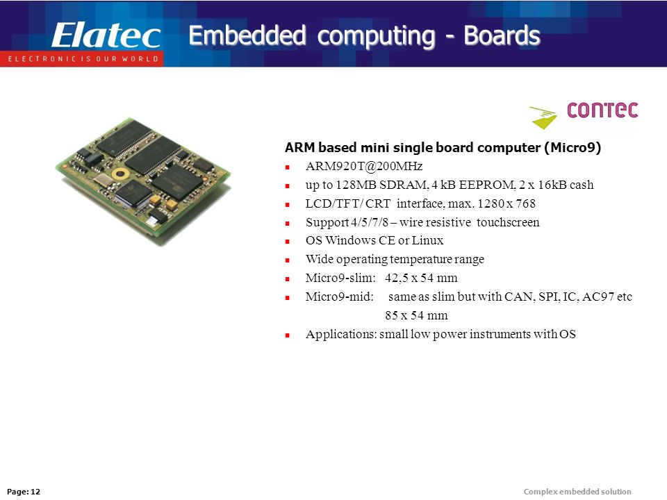 Page: 1Complex embedded solution L  Pavel, Elatec, April